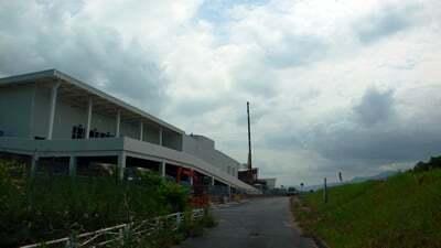 ピエリ守山完成間近のいつものアングルの写真