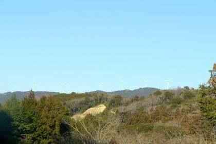 遠州掛川風力発電所の写真