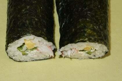 カニ巻寿司の写真