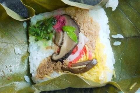 朴葉寿司の中身の写真