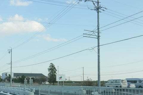 大野神戸ICへの道路の写真