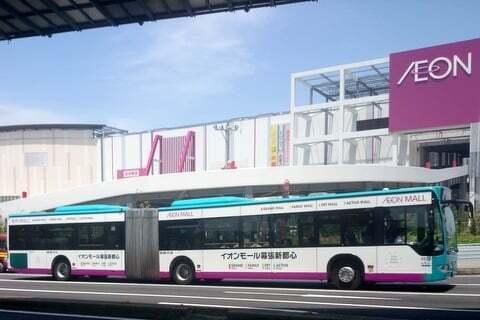 イオンモール幕張新都心のバスの写真