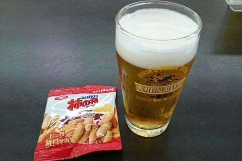 ビールの試飲の写真