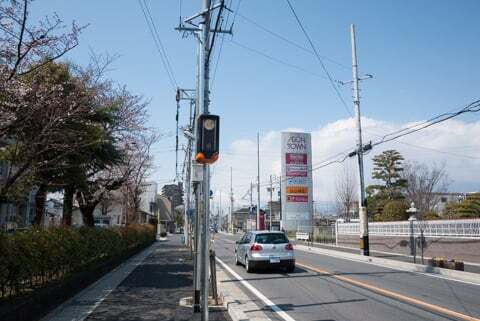 大垣市の新型オービスの写真