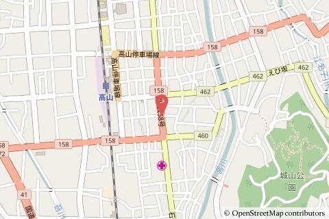 セブンイレブン高山名田町4丁目店の地図の写真