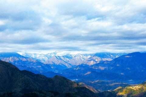 南アルプスの山々の写真