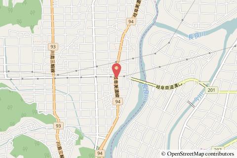 ファミリーマート新岐関大橋店の地図の写真