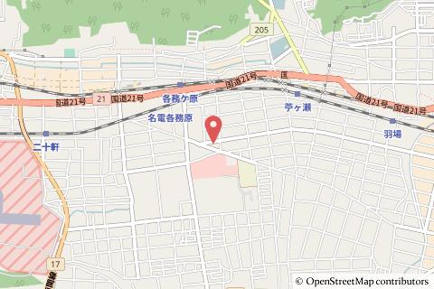 ファミリーマート岐阜各務野高校前店の地図の写真