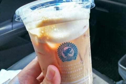ローソンのカフェラテの写真