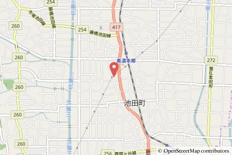 クスリのアオキ池田店の地図の写真