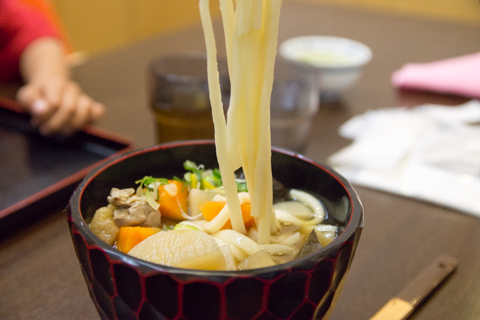 うどんの麺の写真