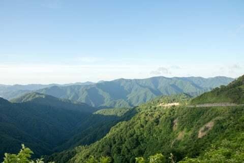 頂上手前の絶景ポイントの写真