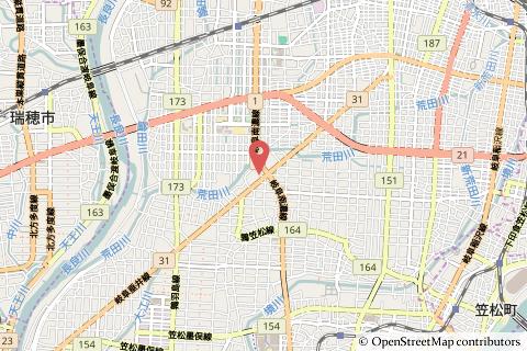 ファミリーマート岐阜北鶉店の地図の写真