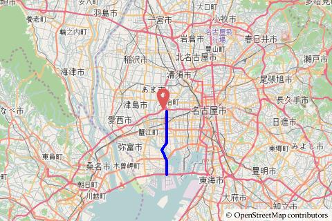 名古屋西JCT−飛島JCTの写真