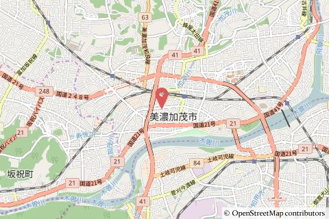 クスリのアオキ美濃太田店の地図の写真