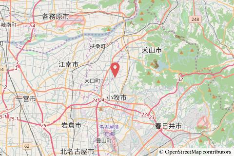 バロー犬山楽田店の予定地地図の写真