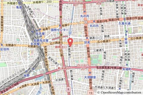 テラッセ納屋橋の地図の写真