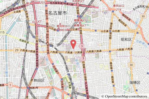 バロー高辻店の地図の写真
