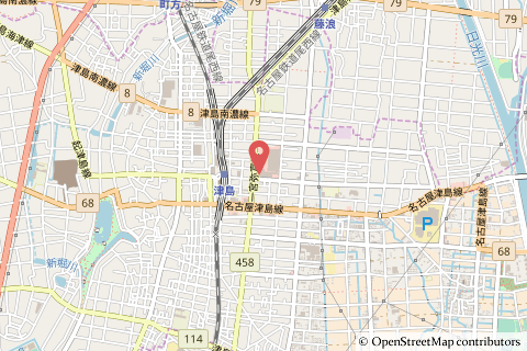 Yストア津島駅東店の地図の写真