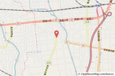 ドラッグコスモス長松店の地図の写真