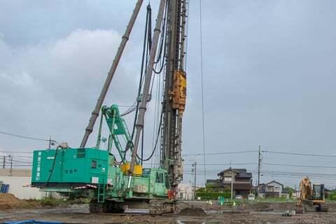 アルビス姫野店予定地の工事の写真