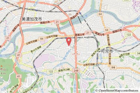 ゲンキー今渡店の地図の写真