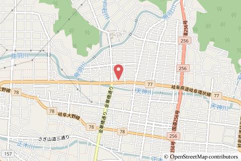 ドラッグスギヤマ長良西店の地図の写真