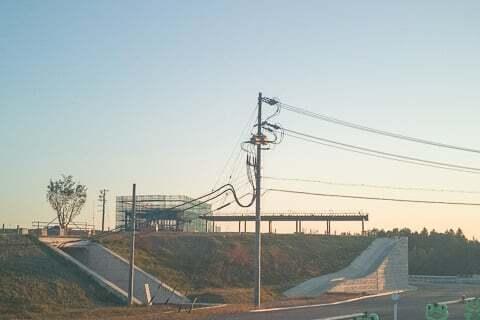 菰野ICの工事の写真