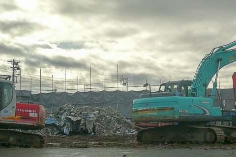 プライスカット三雲店の解体の写真