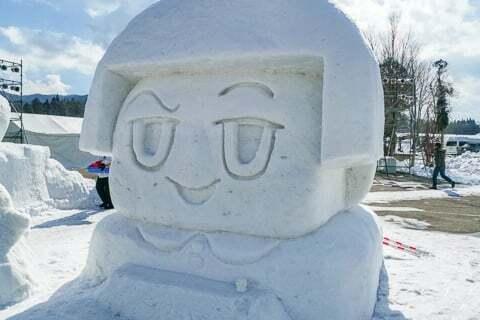 雪像の写真