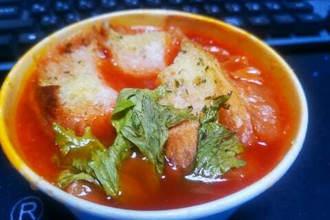 トマトとセロリのスープの写真