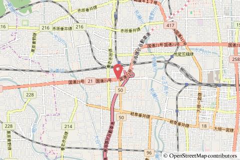 大垣西ICの地図の写真