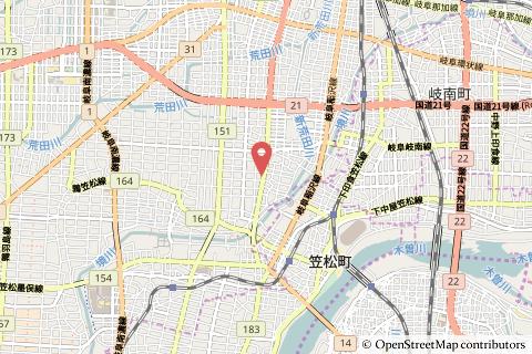 クスリのアオキ茜部神清寺店の地図の写真