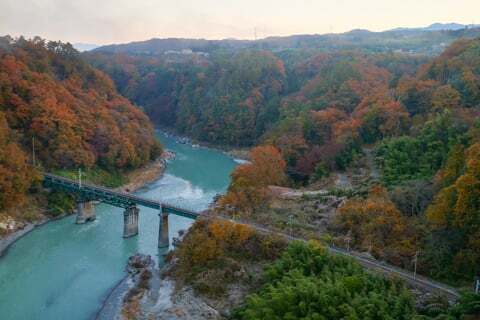 飯田線と天竜峡の写真