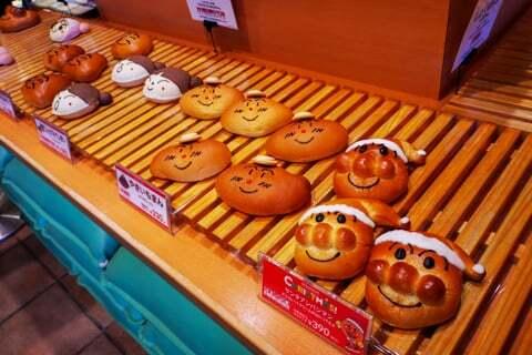 アンパンマンの各種パンの写真