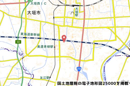 大垣本今五丁目店の地図の写真