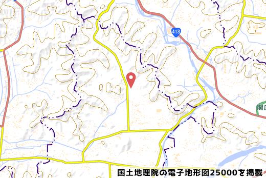 岐阜三輪PAの地図の写真
