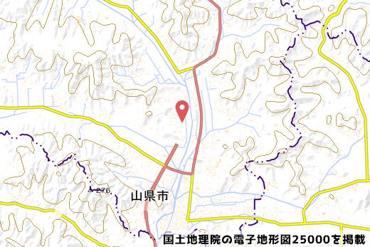 山県ICの地図の写真