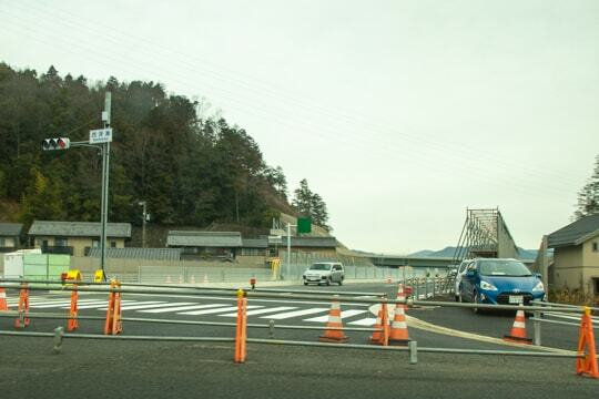開通前の国道256号線の写真