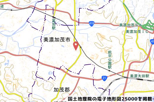 予定地地図の写真