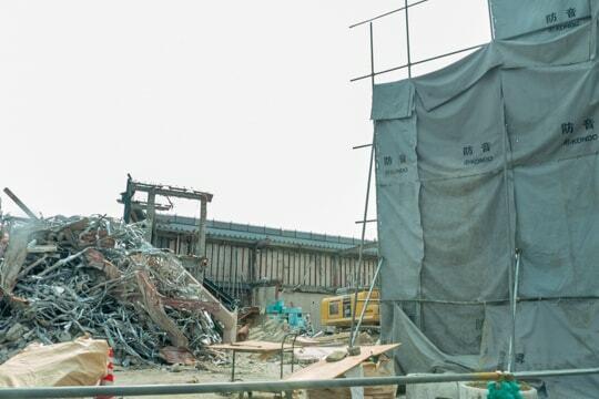 旧バローの解体の写真