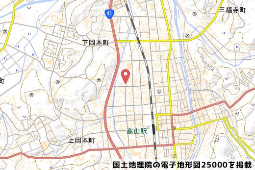 新井こう平製麺所の地図の写真