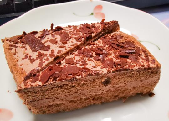 チョコレートケーキの写真