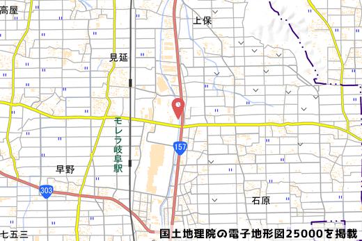糸貫ICの地図の写真