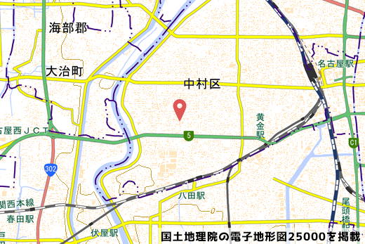 アルビス中村二瀬店の地図の写真