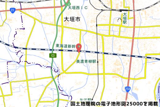 ゲンキー綾野店の地図の写真