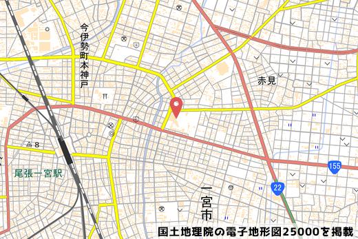 予定地の地図の写真