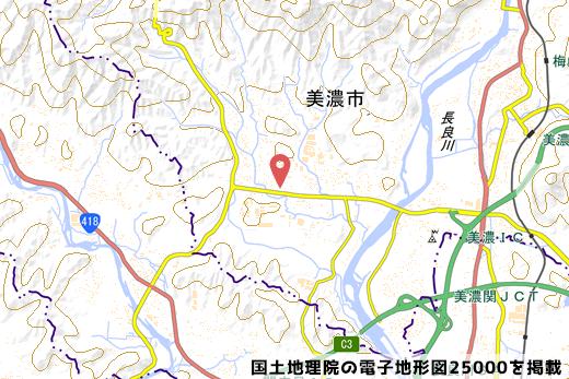 出店地の地図の写真