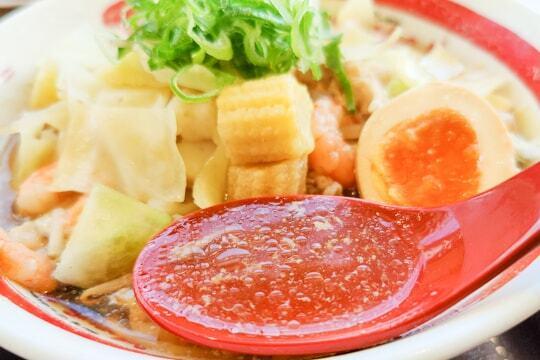 長浜ちゃんぽんのスープの写真