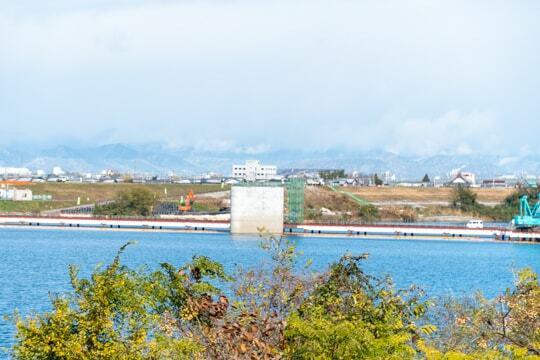 岐阜県側からの様子の写真